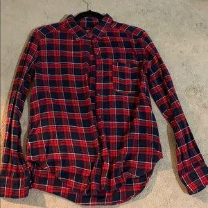 Red/Black Checker Flannel